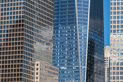 Office buildings and skyscrapers detail in New York City Royalty Free Stock Photos