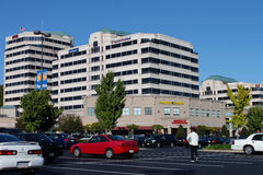 Office Buildings in Strip Mall Reston Virginia. Large corporations doing business in buildings constructed in the middle of a strip mall in Northern Virginia ( Stock Images