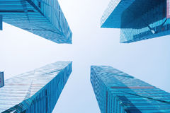 Office buildings upward Royalty Free Stock Photo