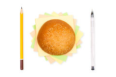 Office burger Royalty Free Stock Image