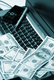 Office, business accessories, e-commerce. Dollars Stock Photos