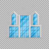 Office business building isolated Flat in style on transparent background vector illustration. royalty free illustration