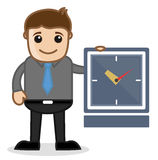 Office and Business Cartoon Character Vector  Illustration - Time Concept Stock Images