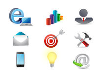 Office business concept icon set illustration Stock Images