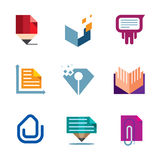 Office business document symbol of entrepreneur creativity logo icon Royalty Free Stock Photos