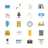 Office and Business Flat Icons color Royalty Free Stock Images