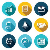 Office business flat icons set Stock Images