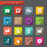 Office and business flat icons Stock Image