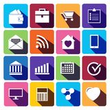 Office and business Flat icons for Web. Royalty Free Stock Photos