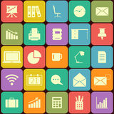 Office and business Flat icons for Web and Mobile Stock Photography