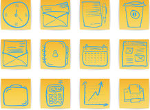 Office & Business hand draw icon Royalty Free Stock Photos