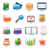 Office and business icon set Stock Photos