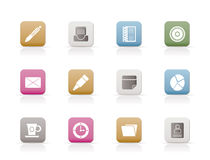 Office & Business Icons royalty free illustration