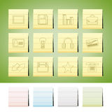 Office and business icons Royalty Free Stock Photo