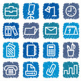 Office and business icons Stock Image
