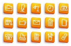 Office and business icons Stock Photos