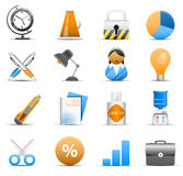 Office and business icons Stock Photography