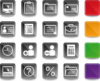 Office & Business icons Royalty Free Stock Photography