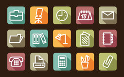 Office and business icons Stock Images