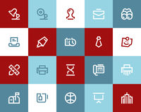 Office and business icons. Flat style Stock Photography
