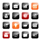 Office and business icons - glossy series Stock Images