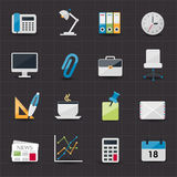 Office and business icons. This image is a  illustration Stock Image