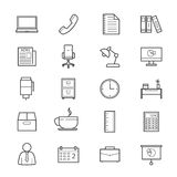 Office and Business Icons Line Stock Image