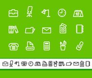 Office and business icons vector illustration