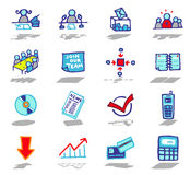 office & business icons set Stock Images