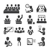 Office and business icons. Set of 16 office and business icons Royalty Free Stock Images