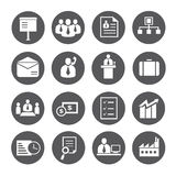 Office and business icons. Set of 16 business and office icons Royalty Free Stock Image