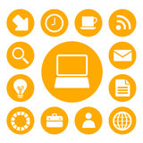 Office and Business Icons Set Royalty Free Stock Images