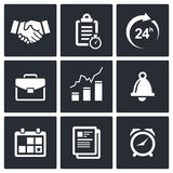 Office business icons set Stock Photo
