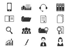 Office and Business Icons set. Office and Business simply icons for web and user interfaces Royalty Free Stock Photos
