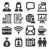 Office and Business Icons Set on White Background. Vector royalty free stock image