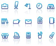 Office and business icons royalty free illustration