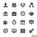 Office and business icons. Stock Photos