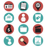 Office and business icons Royalty Free Stock Images