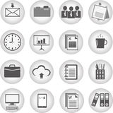 Office and business icons Royalty Free Stock Image