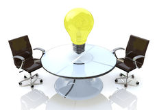 Office, business ideas. For the design of information related to innovation and the economy Stock Images