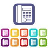Office business keypad phone icons set Stock Image