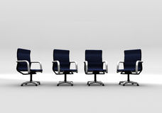 Office, business Meeting. Empty Office Chairs set up in anticipation of a meeting royalty free illustration