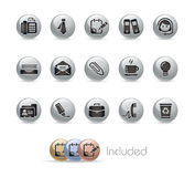 Office & Business // Metal Button Series Royalty Free Stock Photo
