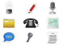Office and business miscellaneous icon set (vector Royalty Free Stock Photo