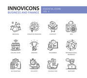 Office, business modern thin line design icons and pictograms Stock Photography