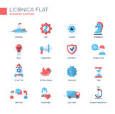 Office, business modern thin line design icons and pictograms Stock Images
