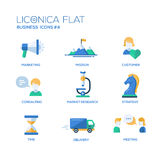 Office, business modern thin line design icons and pictograms Royalty Free Stock Photography