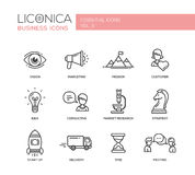 Office, business modern thin line design icons and pictograms Royalty Free Stock Image