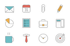 Office and Business outline icons Stock Image