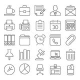 Office and Business outline icons Stock Photo